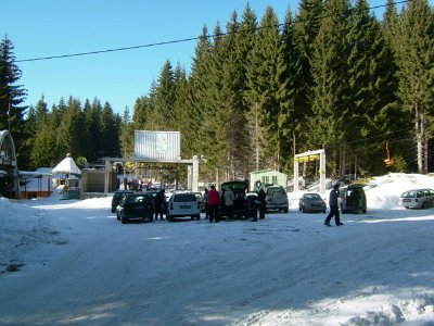 500 metres from Pine Lodge - The No4 Chair lift base station taking you to the top of the Snejanka