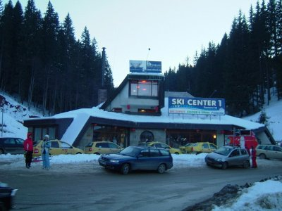 Ski Chair lift No1 in Pamporovo which terminates at Stoudenets
