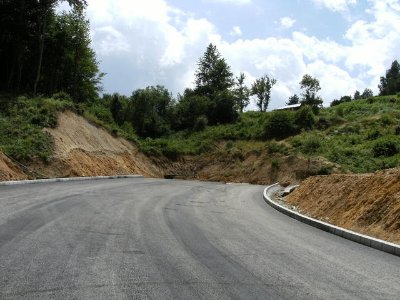 The road to Greece, at the border. The greek road will join up with this soon