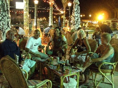 Drinks, Sheesha & all round good fun with some friendly locals at The Alhambra Cafe